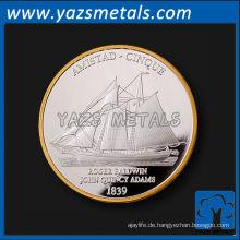 Kundenspezifisches silbernes Gold wählen Vorderseite Münze