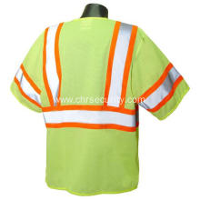 Short sleeve reflective safety clothing