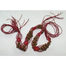 Мода Ручная одежда вощеный шнур плетеные ремни-KL0059