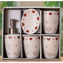5pc Ceramic Bath Set