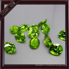 Forme ovale Bling Bling Bonne qualité Péridot naturel pour la mise en bijoux