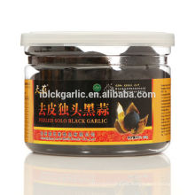 a good snack health food peeled black garlic used for spice 200g/bottle