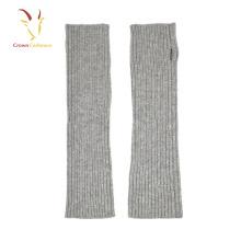 Inverno Malha Mulheres Fingerless Arm Warmer Gloves Cashmere Gloves