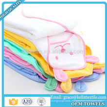 Wholesale stocklot embroidered hooded towel for baby