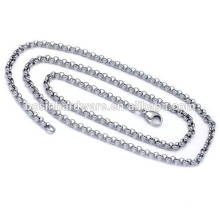 Fashion High Quality Metal Necklace Stainless Steel Rolo Chain