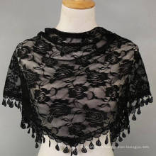 Hot vente mode femmes foulard main crochet bandhnu triangle écharpe en dentelle