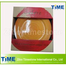 Набор 4шт керамогранита круглая обеденная тарелка комплект с ручной печати