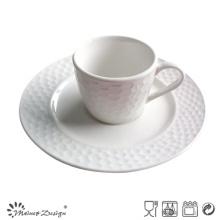 Taza y platillo de porcelana de alta calidad