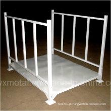 Construção de aço empilhável dobrável dobrável Fixação de armazenamento de metal para tecido
