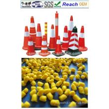 Gránulos de cono de tráfico de PVC flexible