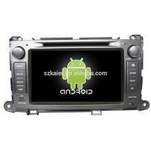 Carro dvd para Toyota Sienna com wince ou sistema android + qual core + 8inch