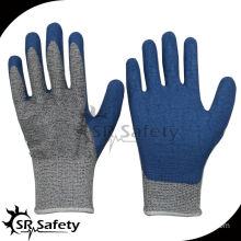 SRSAFETY blue rubber gloves latex cut resistant glove