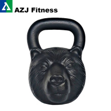 75 LB Bear Animal Face Kettlebell