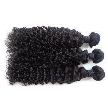 Pas cher Cheveux Extensions 5A-7A Brésiliens Vierges Cheveux Humains Crépus Bouclés Tissage Vague Bouclée Remy Extensions de Cheveux Pour Les Femmes Noires