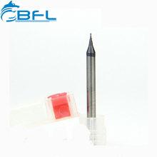 BFL PCB Schneidwerkzeug Hartmetall-Mikro-Fräser 0.1mm Schaftfräser