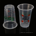 Tasses de jus de fruit jetables en plastique de pp de vente en gros de 500 ml