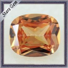 Синтетический драгоценный камень Прямоугольник Форма Подушка Шампанское Кубический диоксид циркония