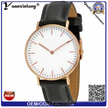 Yxl-647 Geuine Leder Uhr mit Edelstahl Gehäuse Uhr für Mann Hochwertige Uhr