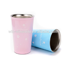 Fashion Novelty Stainless Steel Custom Printed Coffee Mugs