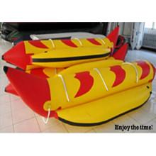2015 mais Popular inflável 2 tubos 3 pessoa Banana Boat com CE China