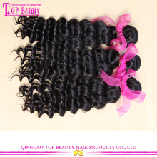 Beautiful curl double weft virgin malaysian deep curly hair