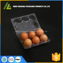 caja de plástico para huevos para cajas de 6 agujeros