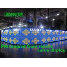 Exibição LED de Curva de Serviço Frontal