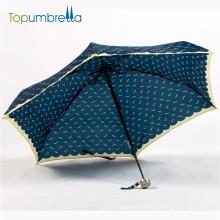 Formosa impressão tecido todo o guarda-chuva de quadro de carbono