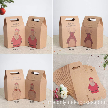 Brown Kraft Paper Christmas Cookies and Candy Bags