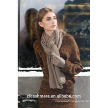 2015 hot selling plain knitting cashmere scarf