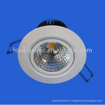 Nouveau fabricant de l'arrivée fournisseur nature blanc 4000k CRI 80 COB nette led downlight