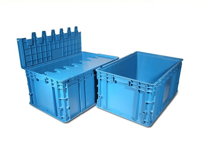 Hinged lidded plastic crate injection mould 7