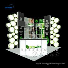 Soporte de exhibición cosmético personalizado a bajo costo para la exhibición de la cabina