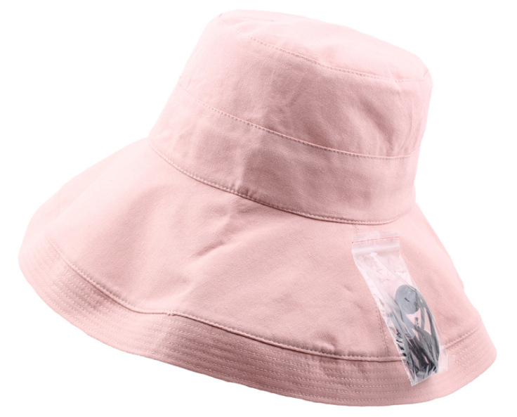 Broad Brim Bucket Hat Pink