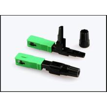 Conector rápido de fibra óptica SC / APC