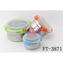 Stainless Steel Fresh Box with Plastic Cover (FT-3871)