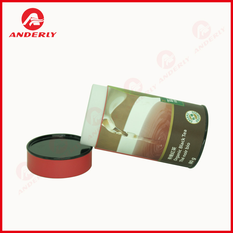 Customized Black Tea Packaging With Tinplate Lid