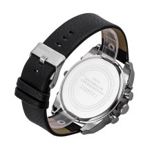 Multi-Function Quartz Watch for Men Double Movement Japan