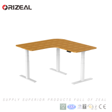 2018 High Quality Fashion Height Adjustable L Shape Office Director Desk