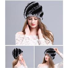 Beaver rabbit fur hat fur hat female winter