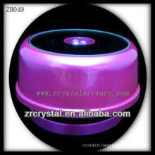 Purple Plastic LED Light Base for Crystal