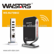 Networking USB 2.0 print Server with 4 USB devices,Multi-Function Printer server,CE,FCC