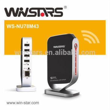 Netzwerk USB 2.0 Druckserver mit 4 USB Geräten, Multifunktionsdruckerserver, CE, FCC