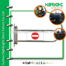 single arm manual swing gate with acrylic board