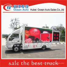 Foton 4x2 llevó el carro móvil de la publicidad para la venta