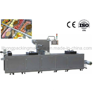 Dlz-460 Full Automatic Continuous Stretch Sea Food Vacuum Packing Machine