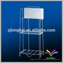 Hangzhou fabrique un stand de journal de métal à 2 niveaux pour le bureau