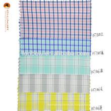 tela de mezcla de spandex de algodón y algodón con cuadros a cuadros