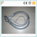 Copper buckle stainless steel / carbon steel whipcheck safety cable