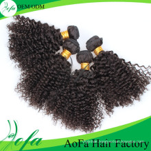 Cheap 100% Natural Brazilian Kinky Curly Virgin Remy Human Hair Extension